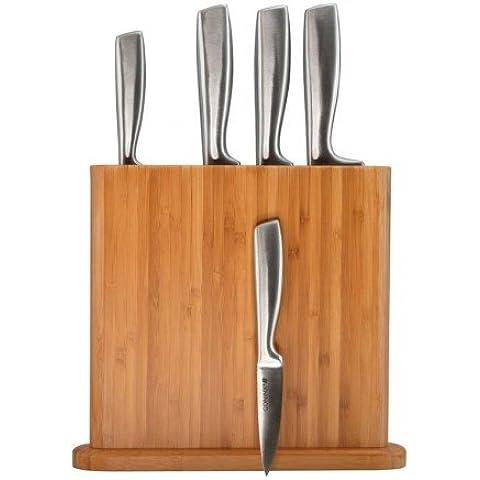 bloque de cuchillos/ juego de cuchillos coninx - bloque para cuchillos varda - taco de cuchillos bamboo - bloque de madera - bloque de madera para cuchillos