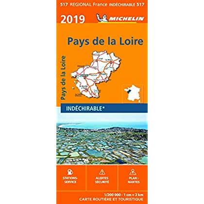 Carte Pays de la Loire Michelin 2019