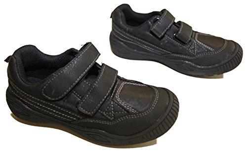 Turnschuhe Junge Kunstleder Verschluss aus 2 Scratch Schuhgrößen 28 die 35 Schwarz