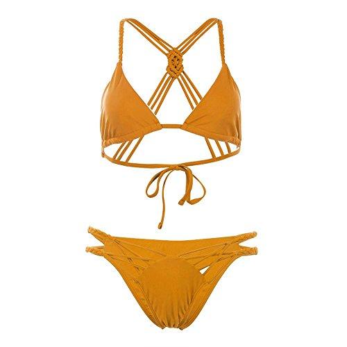 Braid Strap (Domybest Sexy Frauen Bikini Braid Strap Beach Badeanzug)
