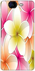 Snoogg All Purpose Bright Frangipani Card In Vector Format Designer Protective Back Case Cover For Micromax Canvas Knight A350