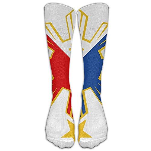 Cap clothes Philippines Pride Star Flag Compression Socks Sports Stockings Long Socks Football Socks (Open Toe Thigh High Socks)