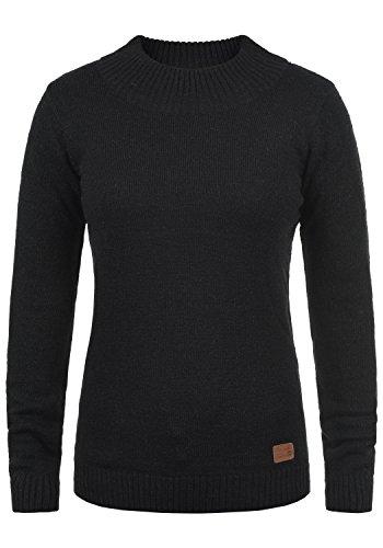 Blend SHE Ninja Damen Rollkragenpullover Pullover Feinstrick Turtleneck mit Rollkragen, Größe:L, Farbe:Black ()