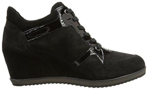 Geox - D Illusion A, Sneakers da donna Nero (c9999/scam/vern lisc)