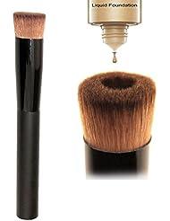 Nouveaux outils de maquillage cosmétique de fond de brosse de fard à joues de visage liquide polyvalent Pinceau à Fond de Teint Liquide Tête Concave Poignée en bois + Poils et fibres animales