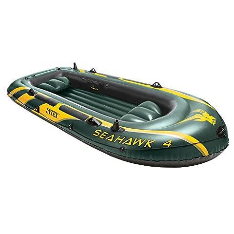 Intex Seahawk–Inflatable Boat, Unisex, green, 351 x 145 x 48 cm