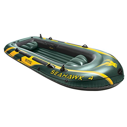 Intex Schlauchboot Seahawk 4 Phthalates Free, 351 X 145 X 48 cm, 68350NP
