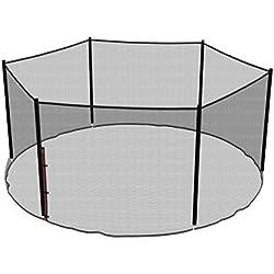 Ampel 24, Filet de sécurité de Rechange pour Trampoline 430 cm et 6 Barres | piquets Non Inclus | résistant aux UV | Filet extèrieur