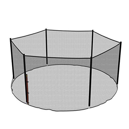Ampel 24 Ersatz Sicherheitsnetz für Trampolin Ø 430 cm,Gartentrampolin Ersatznetz für 6 Stangen, Netz außenliegend, Ersatzteil reißfest, UV-beständig