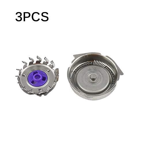 Hermosauknight lame per testine di ricambio 3pcs / set adatte per philips norelco razor-silver