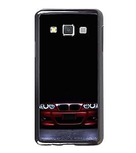 FUSON Red Sporta Car Darkness Designer Back Case Cover for Samsung Galaxy A7 (2015) :: Samsung Galaxy A7 Duos (2015) :: Samsung Galaxy A7 A700F A700Fd A700K/A700S/A700L A7000 A7009 A700H A700Yd