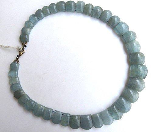 aigue-marine naturelle Cléopâtre Collier, collier de bavoir dégradé Collier, 11 x 10 mm vers 19 x 17 mm, 48,3 cm, Gds988