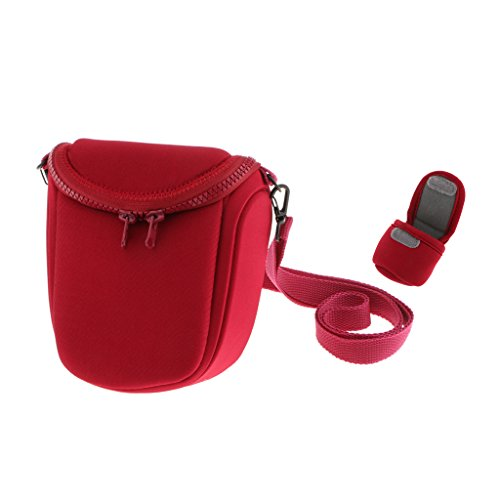 Segolike Waterproof Camera Storage Carry Bag Case with Adjustable Shoulder Strap for Sony LCS BBF NEXF3 NEX5R NEX5N H2 Red  available at amazon for Rs.990