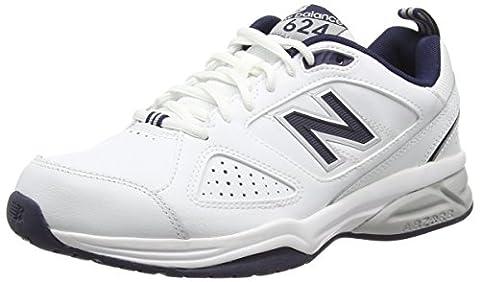 New Balance 624V4, Men's Running Shoes, White (White/Navy 115), 9.5 UK
