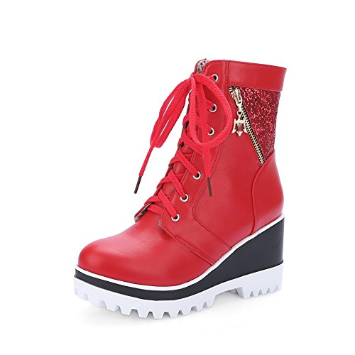 BalaMasa ,  Damen Biker Boots, rot - rot - Größe: 36