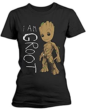 Ladies Guardians of the Galaxy 2 I Am Groot oficial Camiseta mujeres señoras
