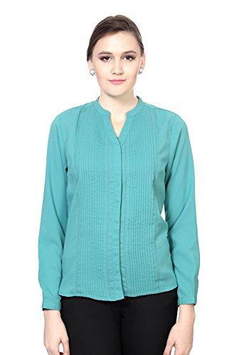 Allen Solly Women's Regular Fit Shirt_ AWTS515R00465_XS_ Green