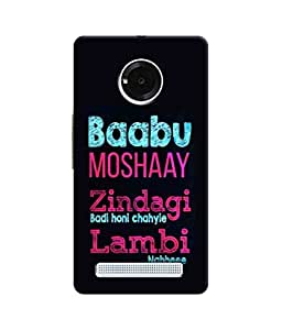 Sketchfab Baabu Moshaay Zindagi Badi Honi Chahiye Lambi Nahhee Latest Design High Quality Printed Designer Back Case Cover For YU Yuphoria
