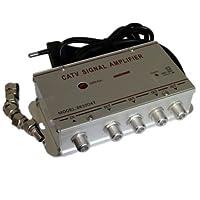 Amplificador Señal Antena con 4 Salidas TV Digital Terrestre decodificador