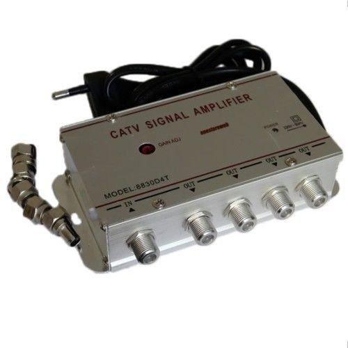 Amplificador Señal Antena con 4Salidas TV Digital Terrestre decodificador