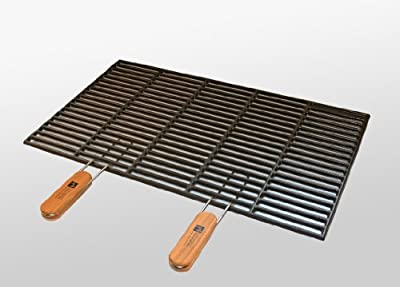 Gusseisen-Grillrost 67 x 40 cm mit abnehmbaren Handgriffen