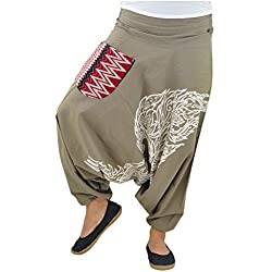 virblatt Pantalones bombacho mujer Yoga cagados como pantalón chandal árabe - Kanok