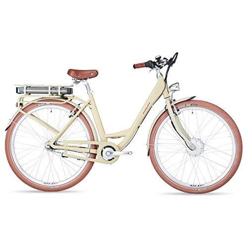 Zündapp Green Retro E-Bike Flair e | Damen | 28 Zoll | creme | 250 W | 50 cm | Vorderradmotor | SAMSUNG Akku | TRIO Steuerdisplay | USB-Ladefunktion | Smartphone-Steuerung | 7 Gänge | Elektrofahrrad