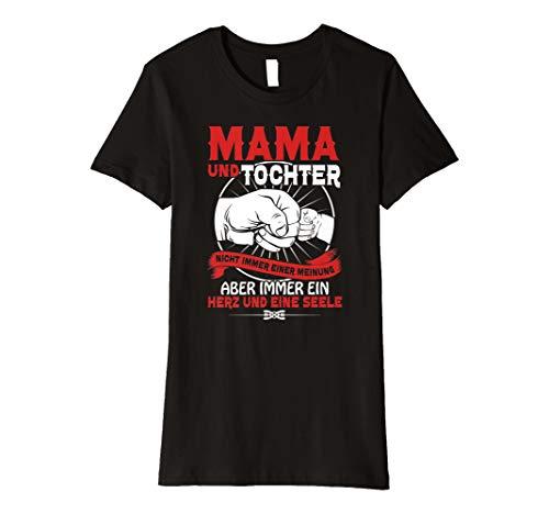 Mama Blue Damen T-shirt (Mama & Tochter (rote Schrift) T-Shirt Geschenk Weihnachten)