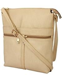 Style Villaz Women Beige Sling Bag