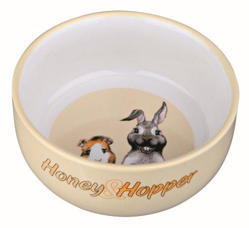 Trixie miel y Hopper bol de cerámica