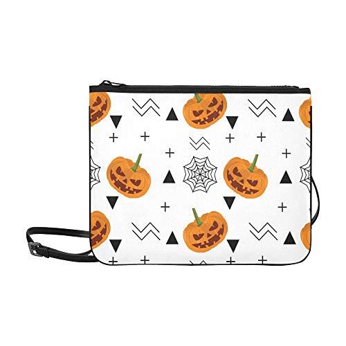 Kostüm Benutzerdefinierte Baby - WOCNEMP Spinnennetz und Halloween-Feiertagsmuster benutzerdefinierte hochwertige Nylon dünne Clutch-Tasche Umhängetasche Umhängetasche