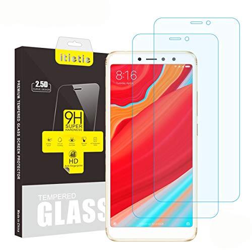 iTieTie Panzerglas Schutzfolie Redmi S2, [2 Stück] [Blasenfreie] [Hochauflösend] [9H Härte] Premium gehärtetes Glas Bildschirmschutzfolie für Xiaomi Redmi S2