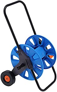 AOUYHD Garden Hose Reel Cart with 2 Wheels Portable Hand?Push Water Pipe Storage Rack Organizer for G1/2 50m T