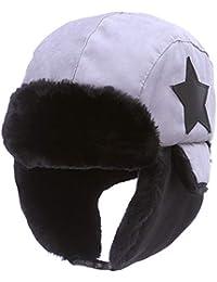 AHAHA Gorra de Bombardero para Niños Sombrero de Invierno Unisex Caperuza Caliente Niños Orejeras Sombrero de Felpa