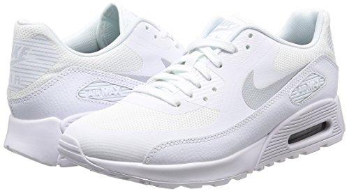 Nike Damen Wmns Air Max 90 Ultra 2.0 Sneakers, Elfenbein (White/Mtlc Platinum/White/Black), 38 EU - 5