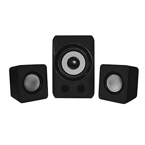 Mini-Multimedia-Lautsprechersystem, ca. 2,1, 10 W, Schwarz Slim-woofer