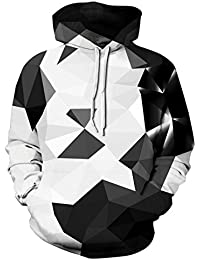 NEWISTAR Unisex 3D Druck Hoodies Kapuzenpullover Langarm Galaxy Bunte Pullover Kapuzenpulli Sweatshirt Kapuzenjacke S-3XL