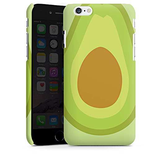 Apple iPhone SE Tasche Hülle Flip Case Avocado Frucht Vegan Premium Case matt