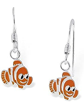 Paar Ohrhänger kleine Sterling Silber Clown Fisch