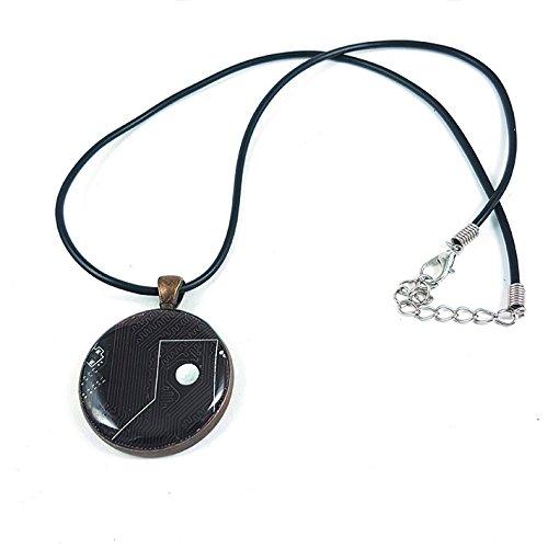 colgante-geekchic-bronce-con-circuito-electronico-marron-30mm-collar-caucho