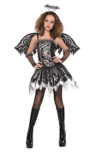 Angel Fallen Kinder Kostüm Halloween (Abendkleid - Fallen Angel Kostüm - Mädchen im Alter von 12-14 - AMS997495 -)