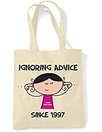 Ignoring Advice Since 1996 - 21st Birthday Present Women's Tote / Shoulder Bag