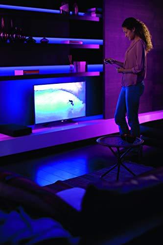 41riQjalAZL [Bon Plan Netatmo] Philips Hue Ruban Lumineux Lightstrip White And Color Ambiance de 2Mètres, Bande Flexible Lumineuse Contrôlée Par Smartphone - Lampe Led à Variation de Couleurs - Fonctionne avec Alexa