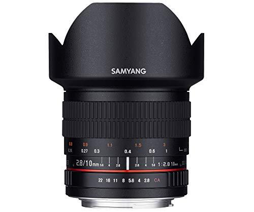 Samyang SAM10NIKON_AE Objectif pour Appareil photo reflex numérique Nikon f/2,8 ED AS NCS CS 10 mm Noir