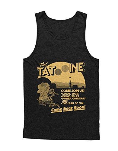 Wars Old Sith Star Kostüm Republic - Hypeshirt Tank-Top Visit Tatooine C000134 Schwarz M