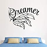 yaoxingfu Vinyl Wall Stickers Dreamcatcher Wall Decal Home Bedroom Decoration Removable Dream Cather Wall Art Mural  57x41cm