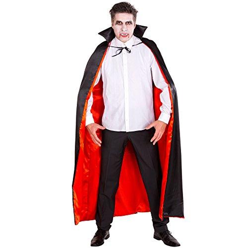 Preisvergleich Produktbild Vampir Umhang aus edlem Glanz-Satin Fasching Fastnacht Karneval Halloween Kostüm (Einheitsgröße)