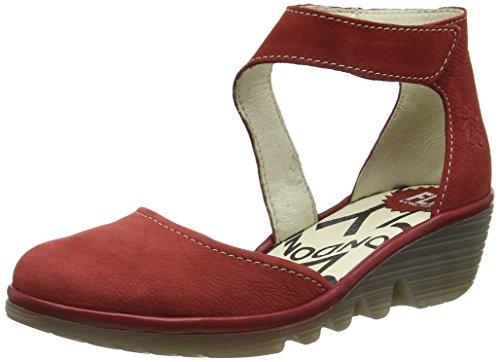 FLY London Piat, Babies et talons femme Rouge - Red (Cordoba Red/Cherry)
