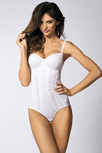 Gorteks Marilyn/Bo Außergewöhnlicher Body, Regulierbare Träger, Top Qualität, Made In EU (Sehe Auch Gorteks Marilyn Soft BH) Weiß