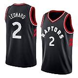 MTBD Basketballtrikot für Herren - NBA Toronto Raptors # 2 Kawhi Leonard Swingman Edition Basketball-Netztrikot, T-Shirt ohne Manches Unisexe Sportswear